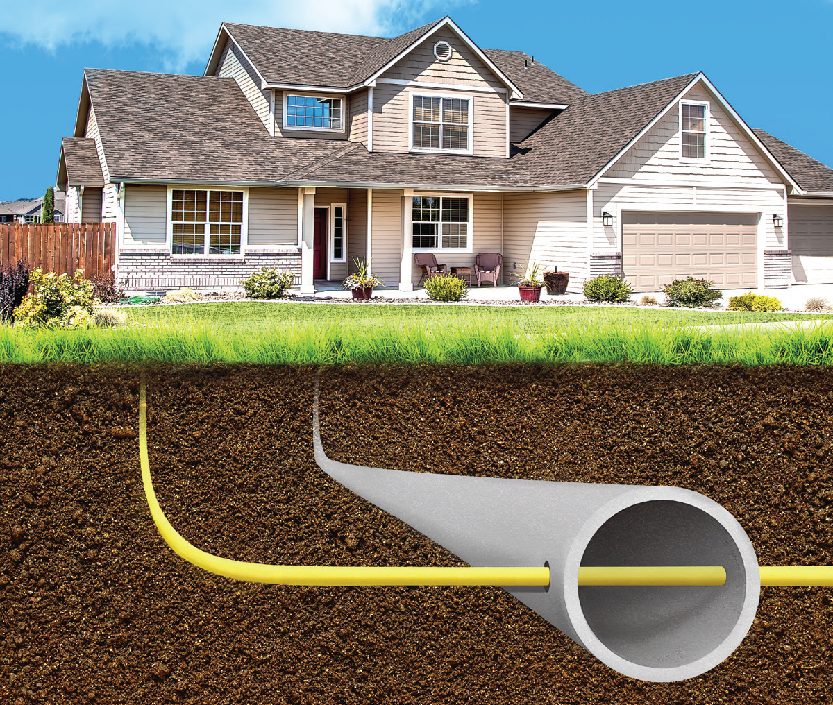 how to add at to a gas line