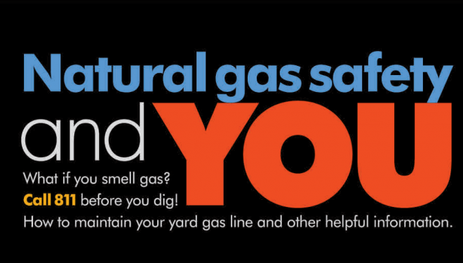 Cover of Natural Gas Living magazine with blue natural gas flames
